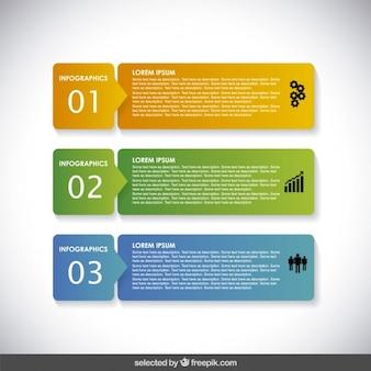 Bannières infographiques horizontaux