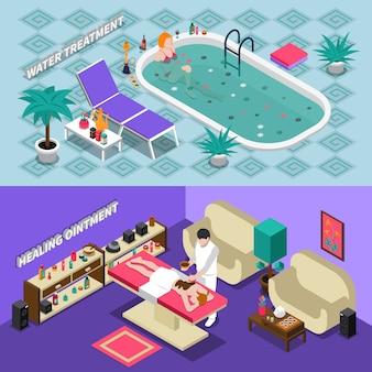 Bannières isométriques salon spa