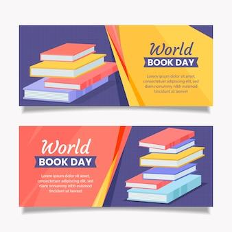 Bannières de la journée mondiale du livre
