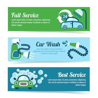 Bannières de lavage de voitures