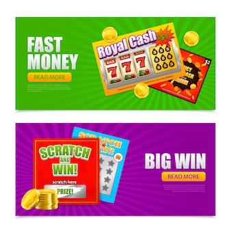 Bannières en ligne de loterie