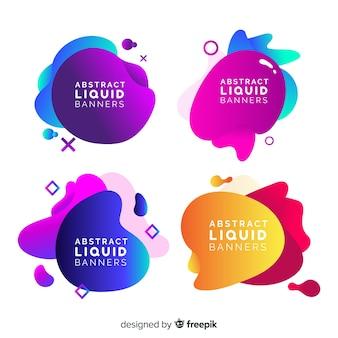 Bannières liquides abstraites