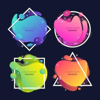 Bannières liquides colorées