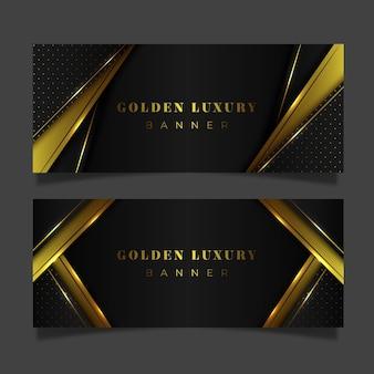 Bannières de luxe dorées dégradées