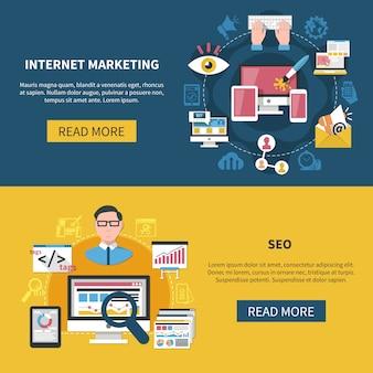Bannières de marketing internet