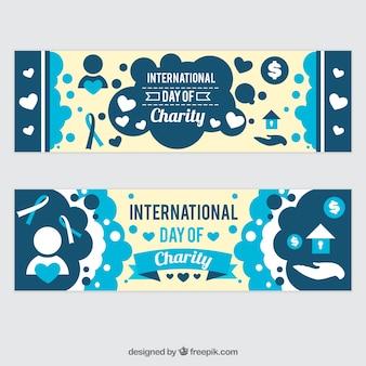 Bannières mignonnes de jour de charité internationale