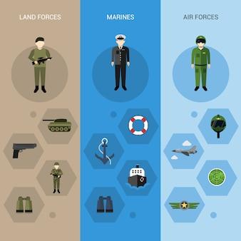 Bannières militaires verticales