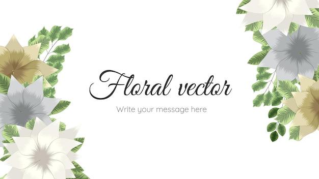 Bannières de modèles d'art floral abstrait à la mode, affiches avec des fleurs