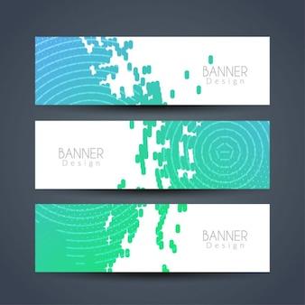 Bannières modernes abstraites définies