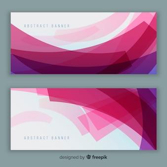 Bannières modernes avec dessin abstrait