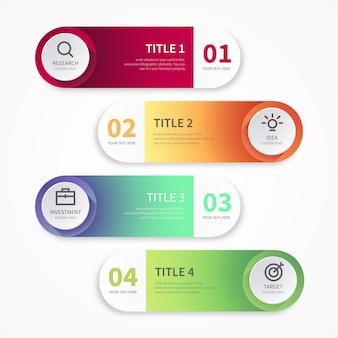Bannières modernes pour l'infographie