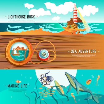 Bannières nautiques mer