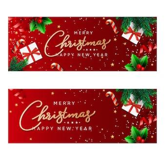 Bannières de noël et du nouvel an.