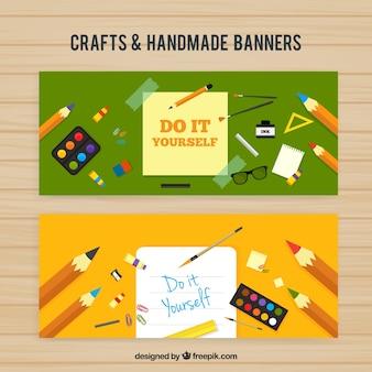 Bannières d'objets d'artisanat