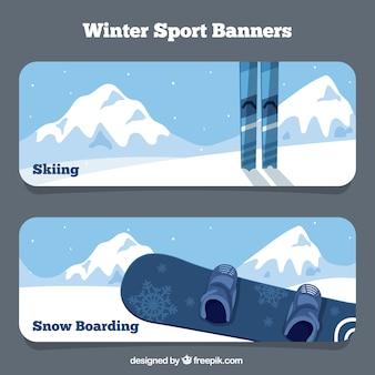 Bannières d'objets de sport