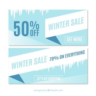 Bannières d'offre d'hiver