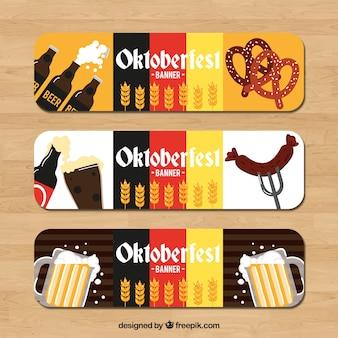 Bannières oktoberfest aux couleurs allemandes