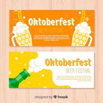 Bannières oktoberfest créatives