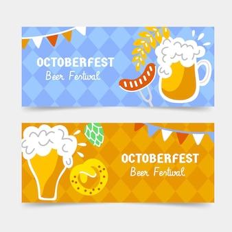 Bannières de l'oktoberfest