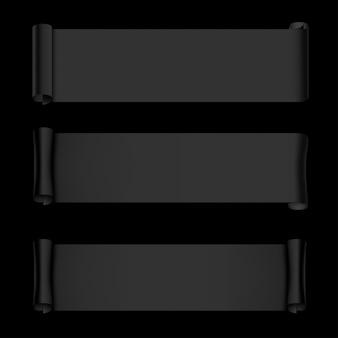 Bannières en papier noir