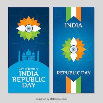 Bannières paquet de jour republica indienne