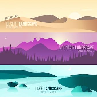 Bannières de paysage