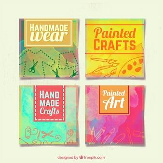 Bannières peintes à la main pour l'artisanat