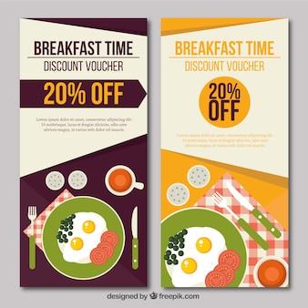 Bannières petit déjeuner à prix réduits