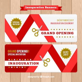 Bannières planaires d'inauguration
