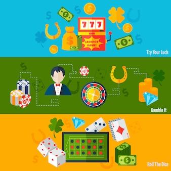 Bannières plates casino