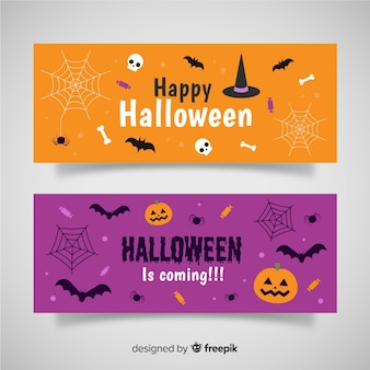 Bannières plates halloween