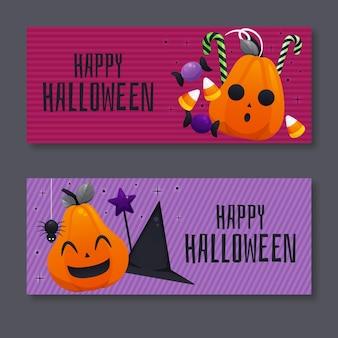 Bannières plates d'halloween