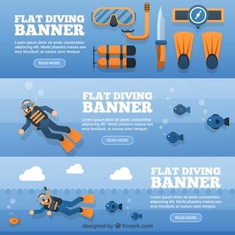 Bannières de plongée