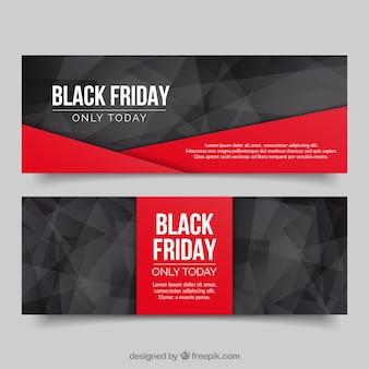 Bannières polygonales vendredi noir
