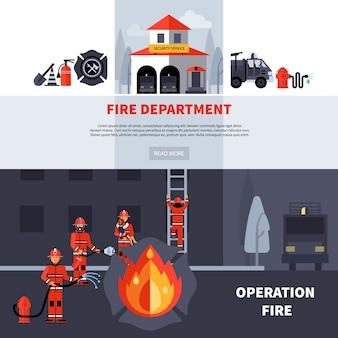 Bannières des pompiers