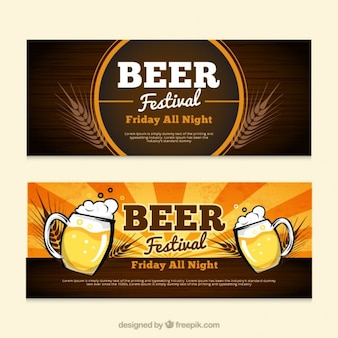Bannières pour fête de la bière