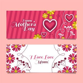 Bannières pour la fête des mères