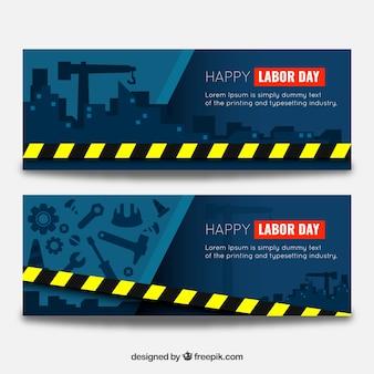 Bannières pour le jour du travail dans les travaux de construction