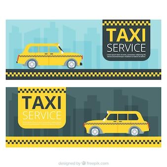 Bannières pour le service de taxi