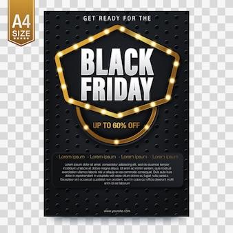 Bannières pour la vente du vendredi noir