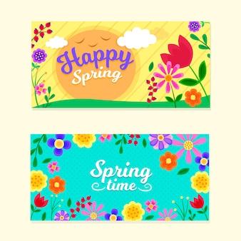 Bannières de printemps