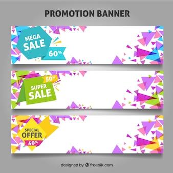 Bannières de promotion des offres et des ventes.