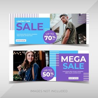 Bannières de promotion de vente de mode