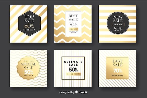Bannières de promotion des ventes pour les médias sociaux