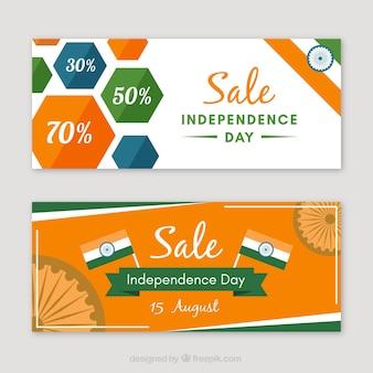 Bannières publicitaires et journées d'indépendance indienne