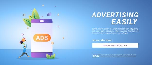 Bannières publicitaires, plaçant facilement des publicités numériques. bannières pour supports promotionnels