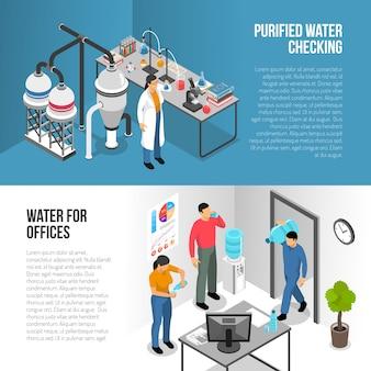 Bannières de purification de l'eau