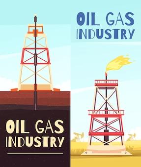 Bannières de raffinage du pétrole