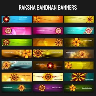 Bannières raksha bandhan