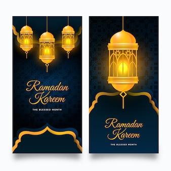 Bannières de ramadan réalistes